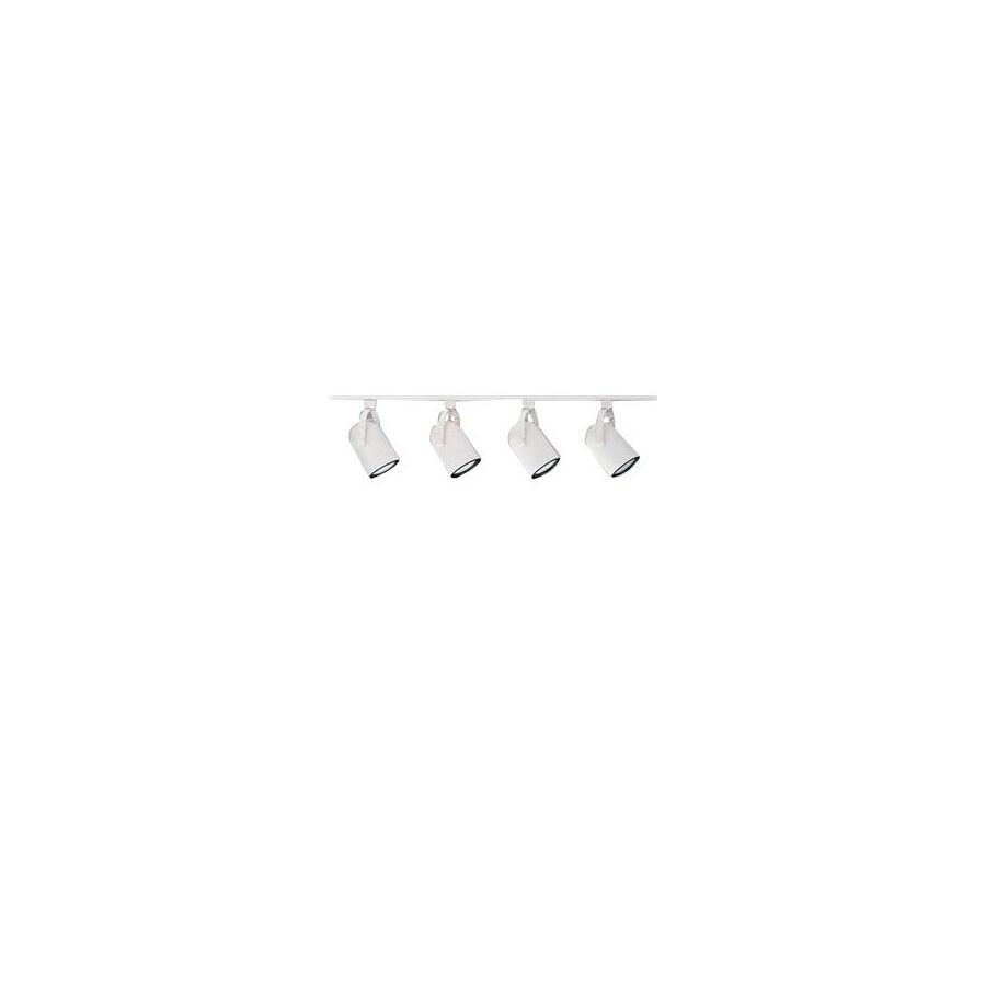 Nicor Lighting 4-Light 48-in White Roundback Linear Track Lighting Kit