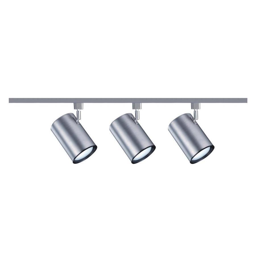 Nicor Lighting 3-Light 48-in Nickel Flat Back Linear Track Lighting Kit