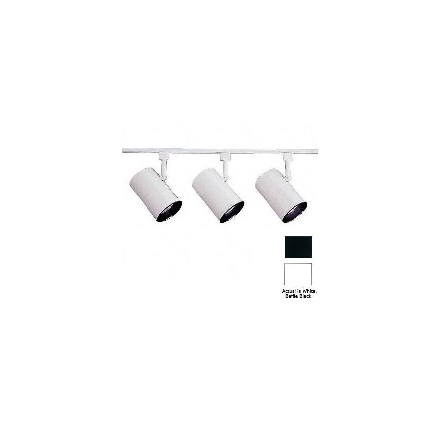 Nicor Lighting 3-Light 48-in White Flat Back Linear Track Lighting Kit