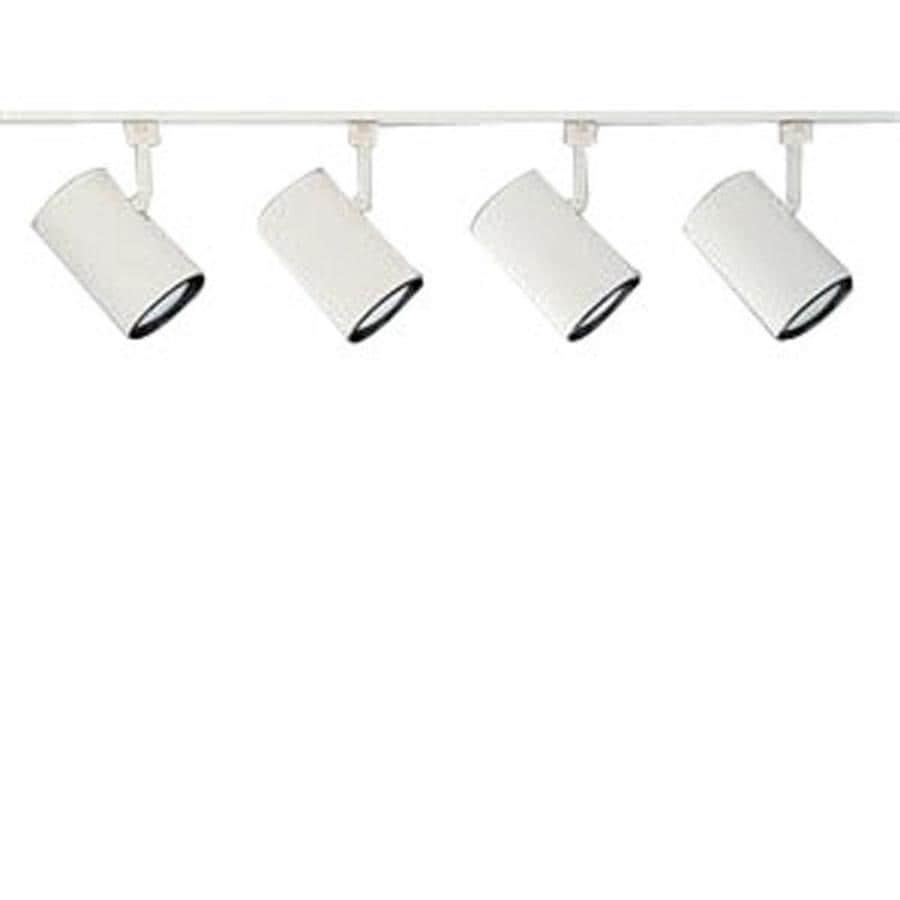 Nicor Lighting 4-Light 48-in White Flat Back Linear Track Lighting Kit