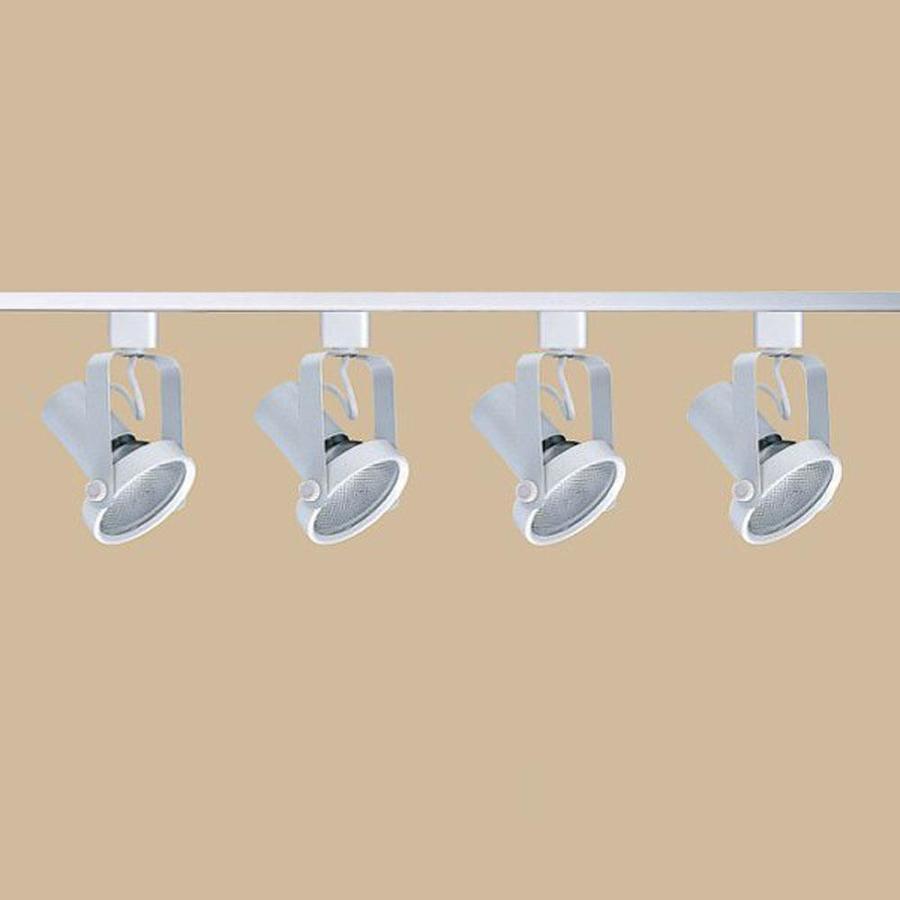 Nicor Lighting 4-Light 48-in Nickel Gimbal Linear Track Lighting Kit