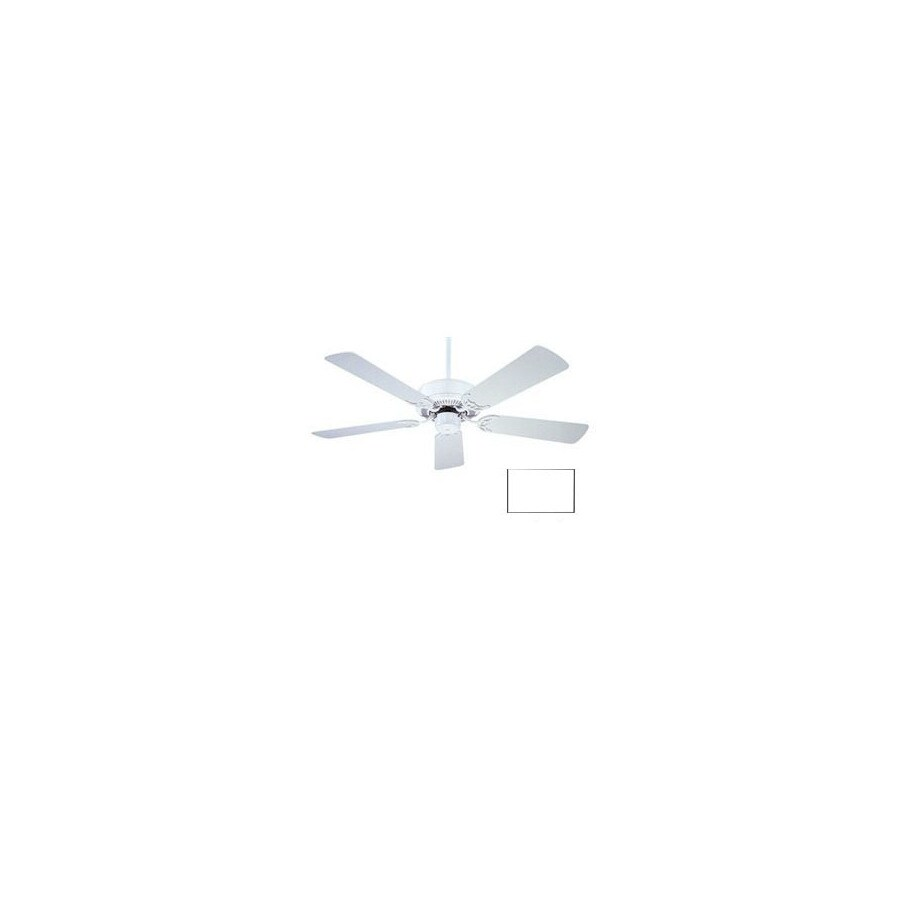 Nicor Lighting 42-in Masterbuilder White Ceiling Fan