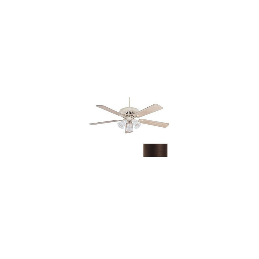 Nicor Lighting 52-in Aspen Bronze Ceiling Fan with Light Kit