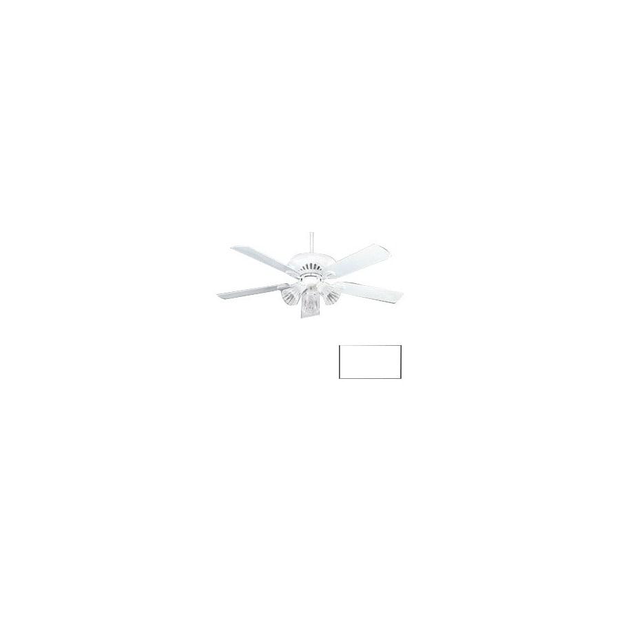 Nicor Lighting 52-in Aspen White Ceiling Fan with Light Kit