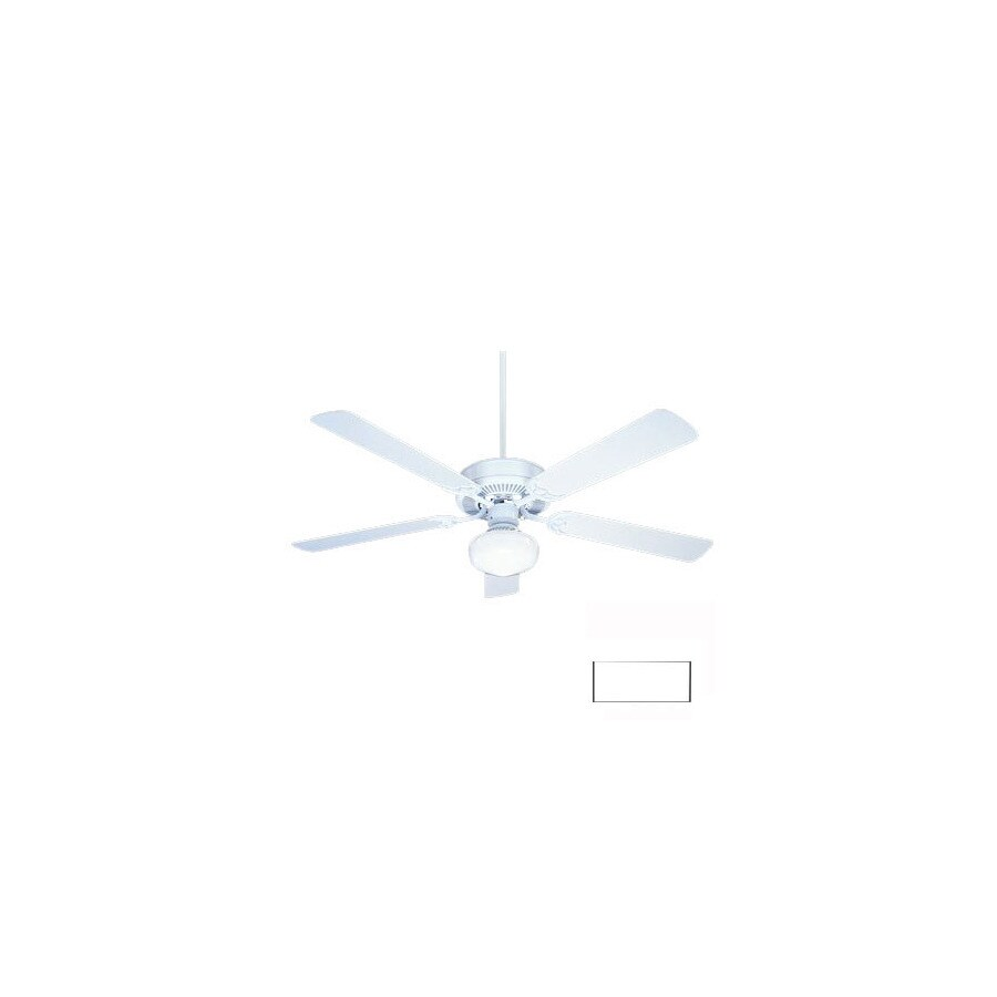 Nicor Lighting 52-in Contractor White Ceiling Fan