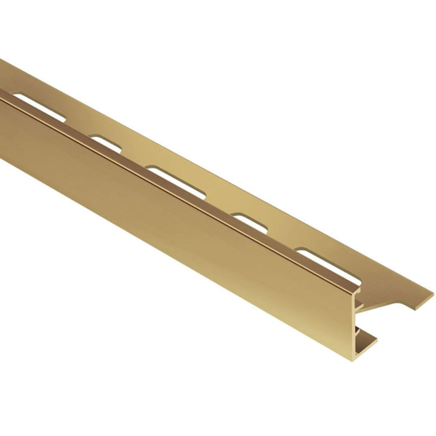 Shop Schluter Systems Schiene 0 75 In W X 98 5 In L Brass