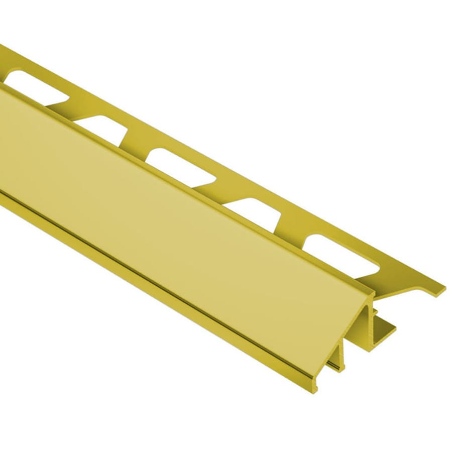 Schluter Systems 0.563-in W x 98.5-in L Brass Commercial/Residential Tile Edge Trim