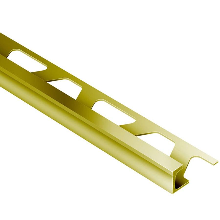 Schluter Systems Deco 0.5-in W x 98.5-in L Brass Tile Edge Trim