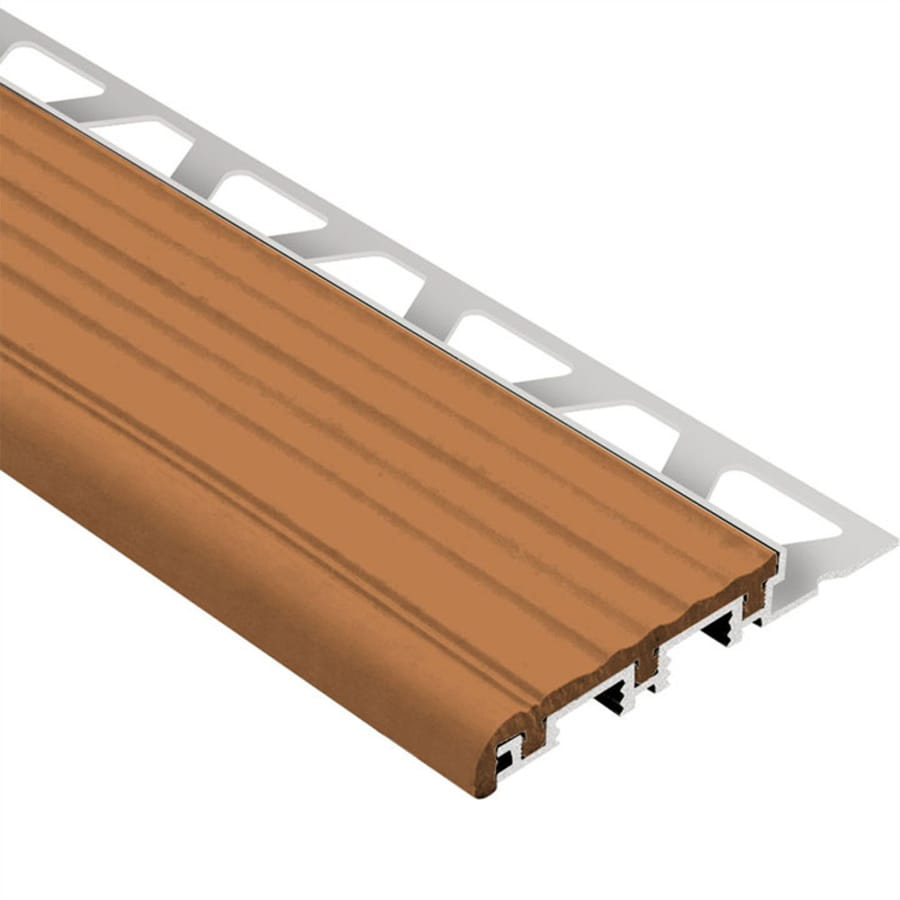 Schluter Systems Trep-B 0.313-in W x 98.5-in L Aluminum Tile Edge Trim