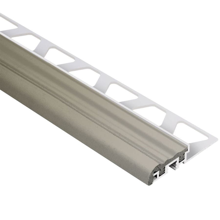 Schluter Systems Trep-S 0.375-in W x 98.5-in L Aluminum Commercial/Residential Tile Edge Trim