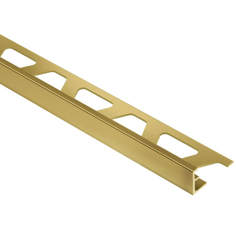 Schluter Systems Schiene 0.344-in W x 98.5-in L Brass Commercial/Residential Tile Edge Trim