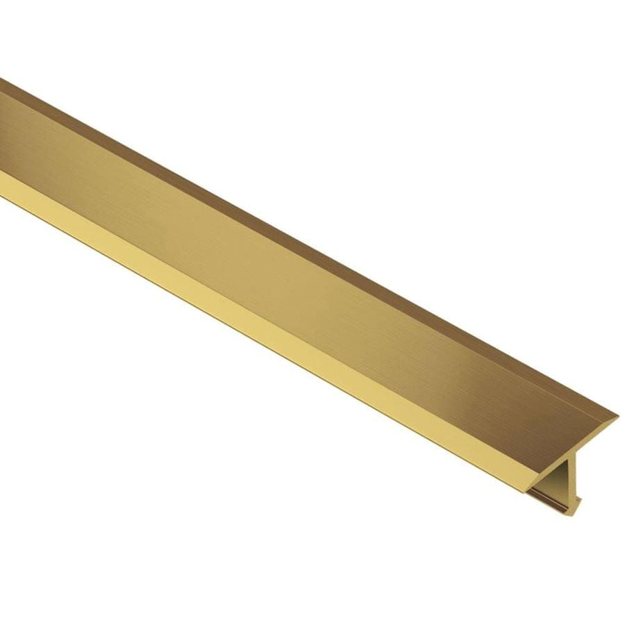 Schluter Systems Reno-T 0.344-in W x 98.5-in L Brass Tile Edge Trim