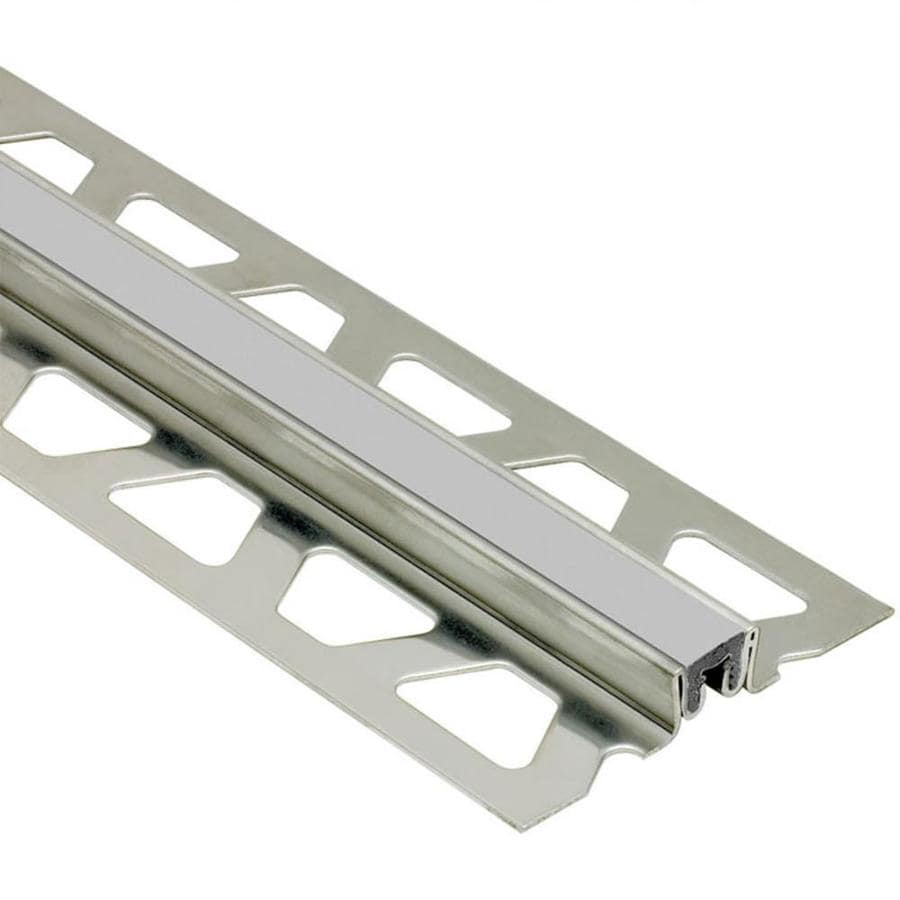 Schluter Systems Dilex-KSN 0.625-in W x 98.5-in L Steel Commercial/Residential Tile Edge Trim