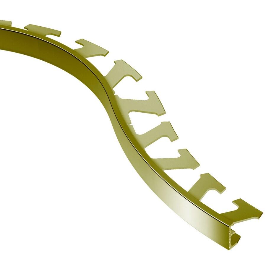 Schluter Systems Schiene-Radius 0.688-in W x 98.5-in L Brass Tile Edge Trim