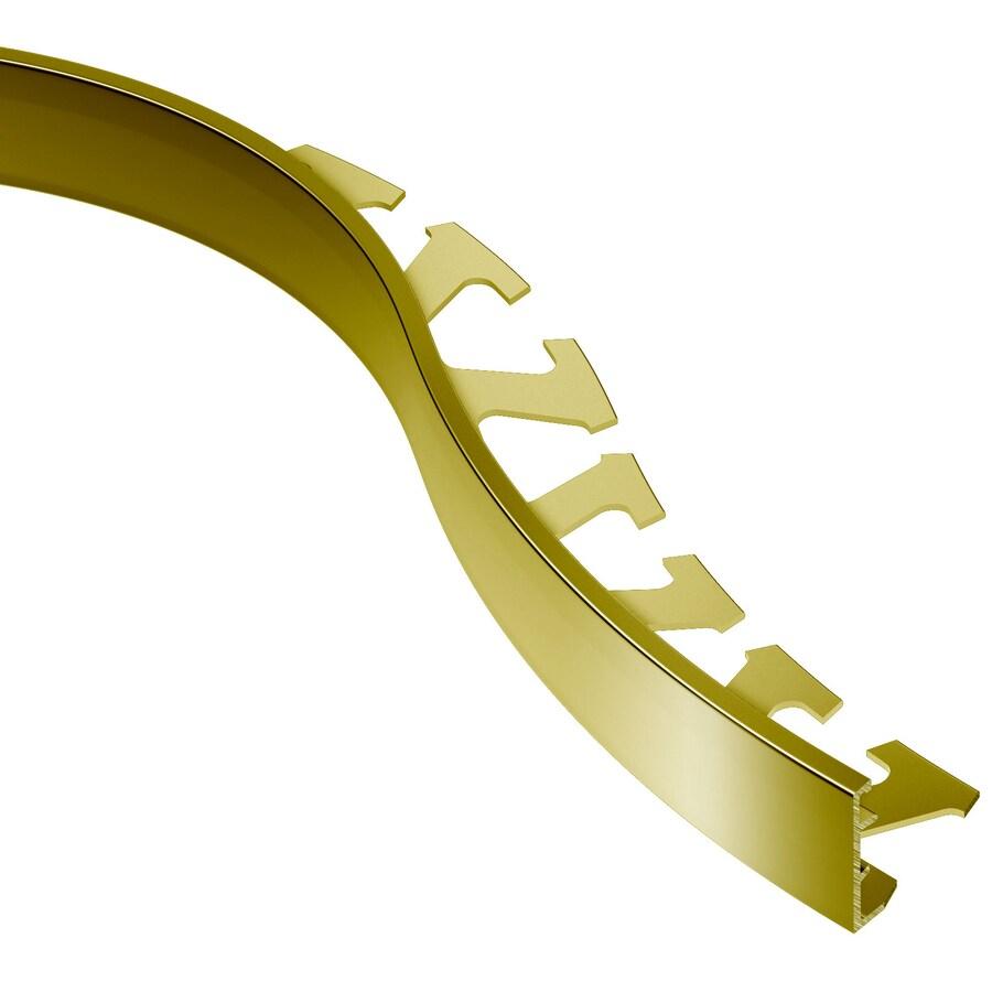 Schluter Systems Schiene-Radius 0.875-in W x 98.5-in L Brass Tile Edge Trim