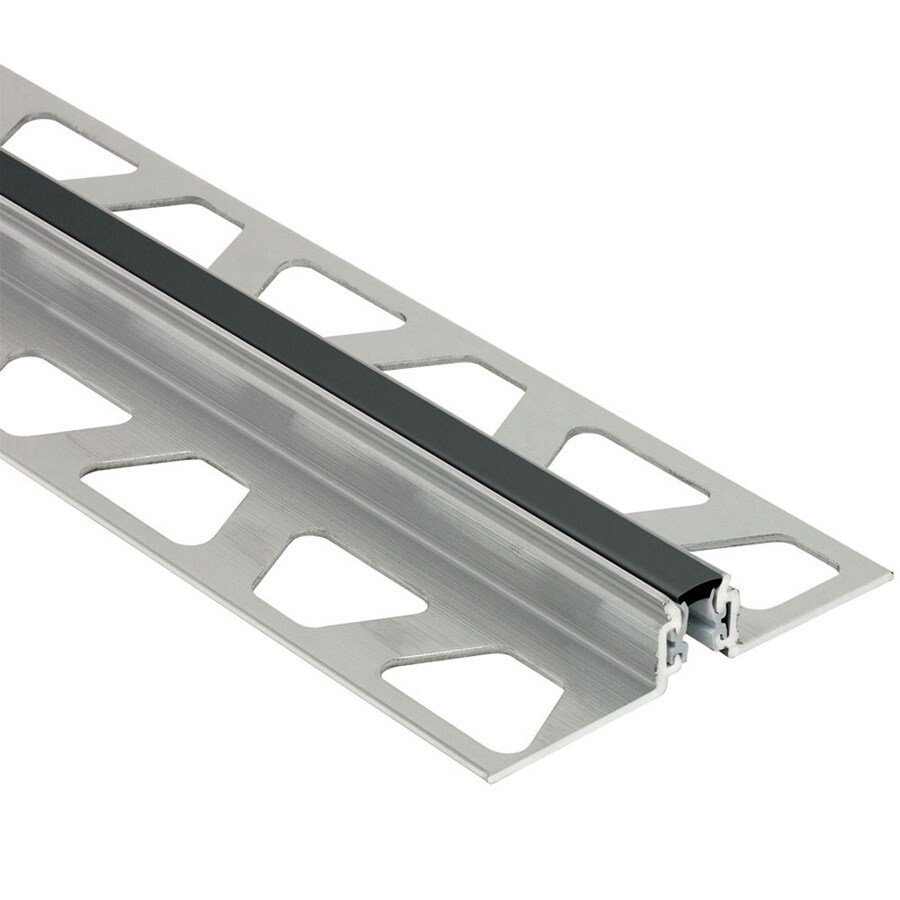 Schluter Systems 0.344-in W x 98.5-in L Aluminum Commercial/Residential Tile Edge Trim