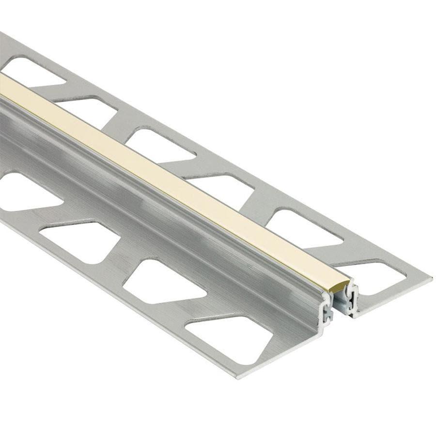 Schluter Systems Dilex-AKWS 0.344-in W x 98.5-in L Aluminum Tile Edge Trim