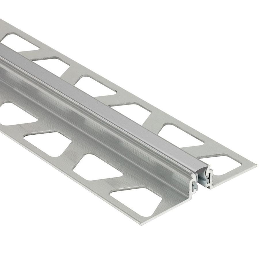 Schluter Systems Dilex-AKWS 0.531-in W x 98.5-in L Aluminum Commercial/Residential Tile Edge Trim