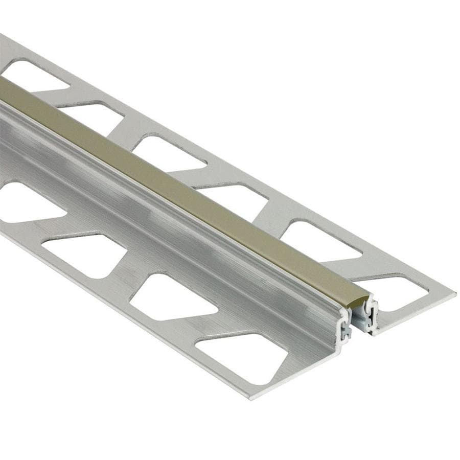 Schluter Systems Dilex-AKWS 0.813-in W x 98.5-in L Aluminum Commercial/Residential Tile Edge Trim