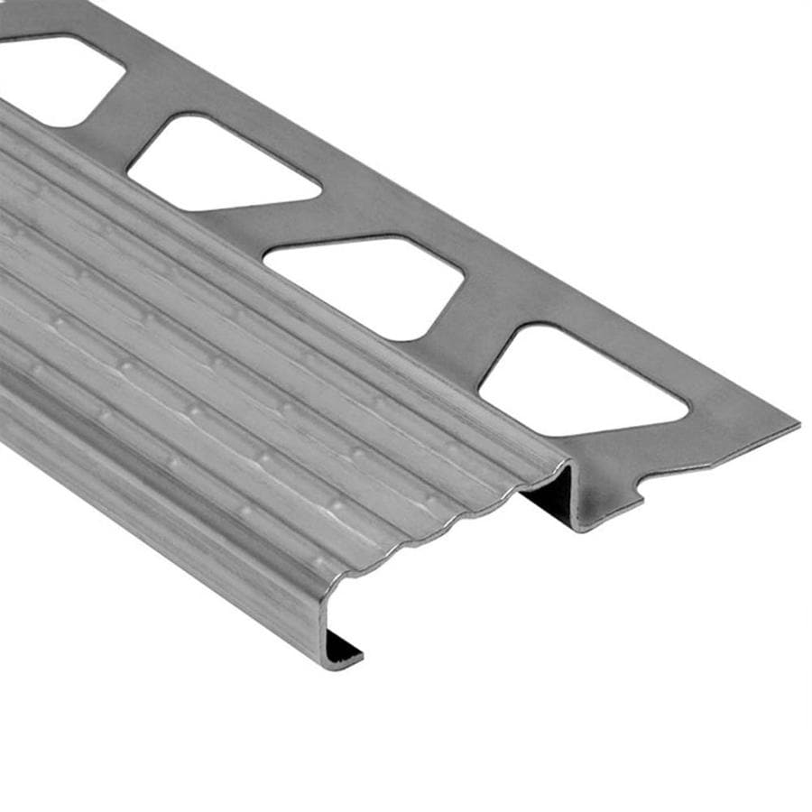 Schluter Systems Trep-E 0.094-in W x 98.5-in L Steel Commercial/Residential Tile Edge Trim