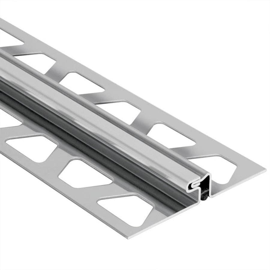 Schluter Systems Dilex-EDP 0.5-in W x 98.5-in L Steel Tile Edge Trim