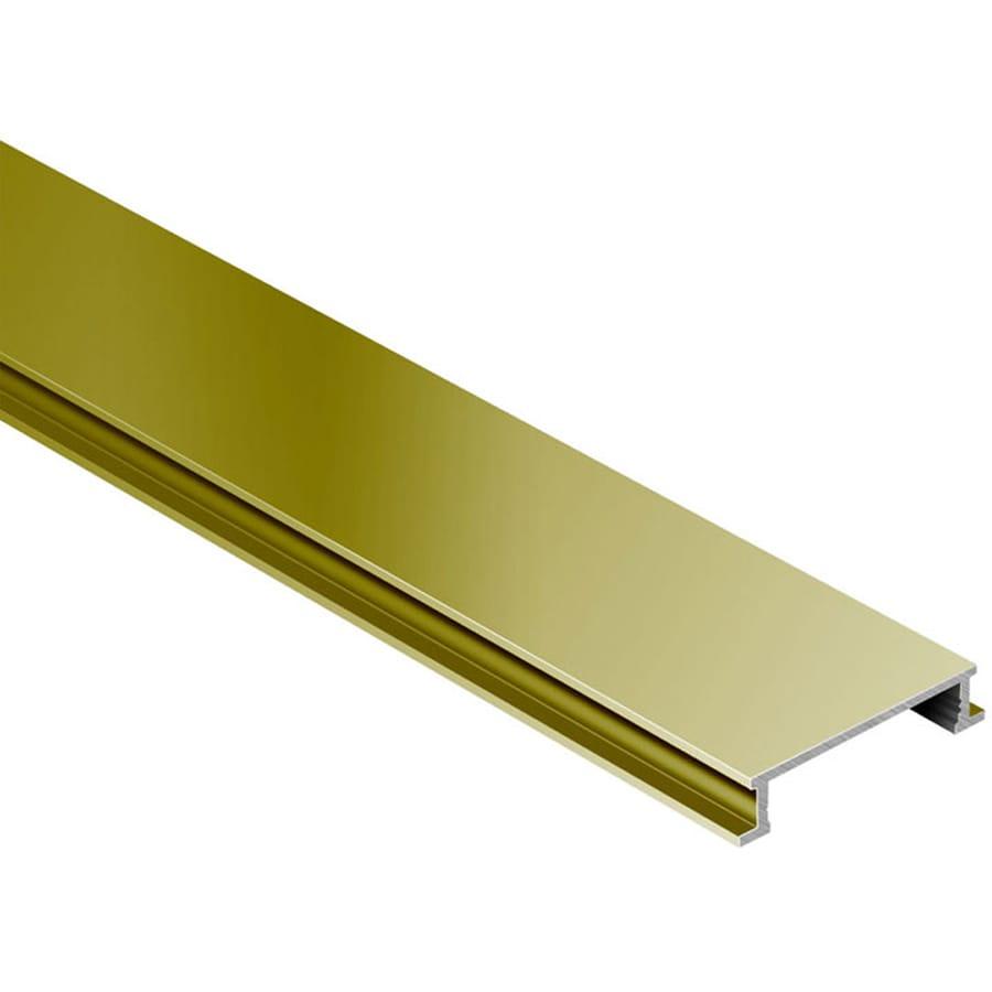 Schluter Systems Designline 0.25-in W x 98.5-in L Aluminum Tile Edge Trim