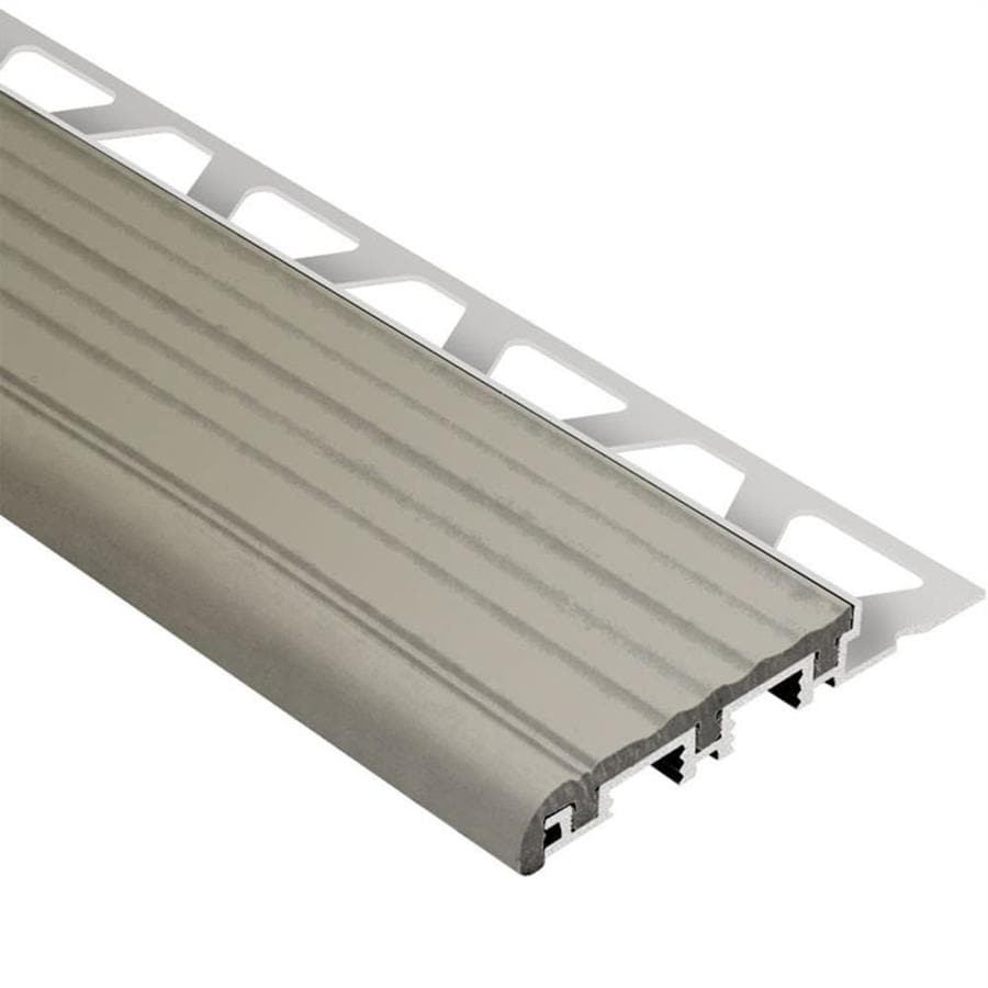 Schluter Systems Trep-B 0.563-in W x 59-in L Aluminum Commercial/Residential Tile Edge Trim