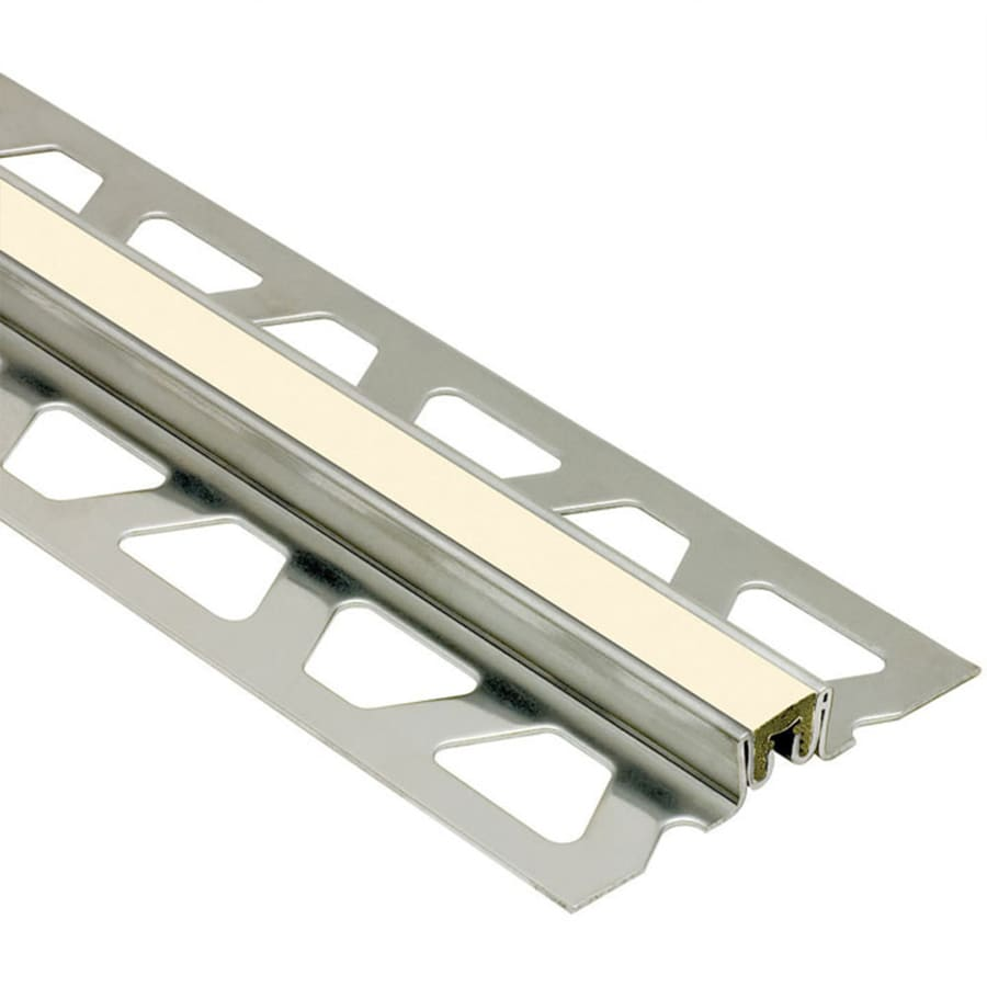 Schluter Systems Dilex-KSN 0.5-in W x 98.5-in L Steel Commercial/Residential Tile Edge Trim