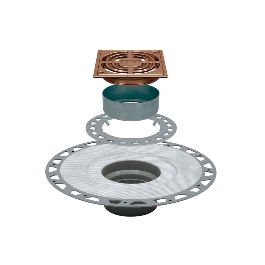 Schluter Systems Kerdi-Drain 4-in Copper PVC Shower Drain