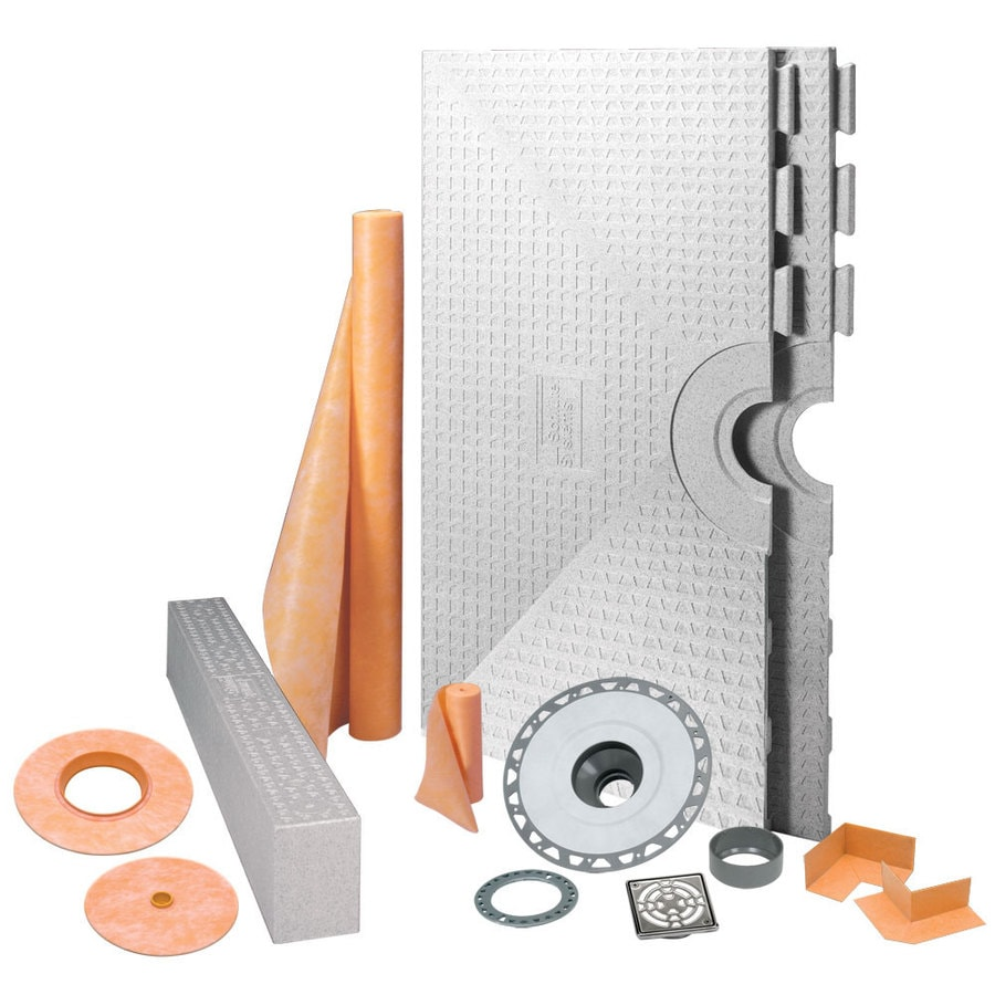 Schluter Systems Kerdi Stainless Steel Styrene Shower Kit