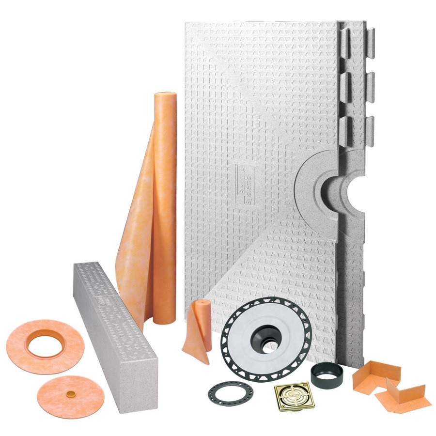 Schluter Systems Kerdi Brushed Brass Styrene Shower Kit