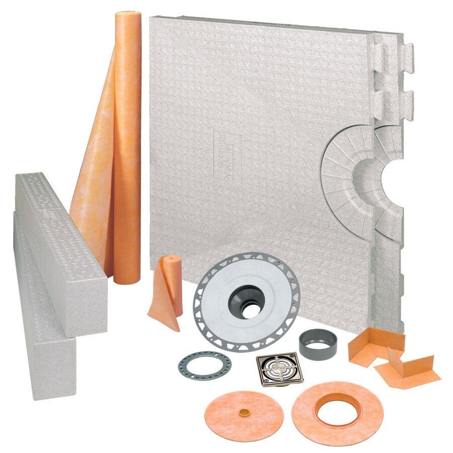 Schluter Systems Kerdi Brushed Nickel Styrene Shower Kit