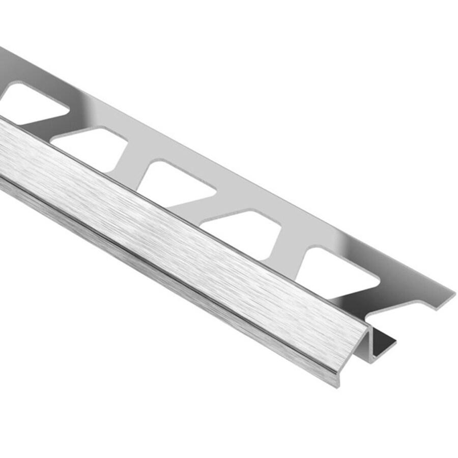 Schluter Systems Reno-U 0.313-in W x 98.5-in L Steel Tile Edge Trim