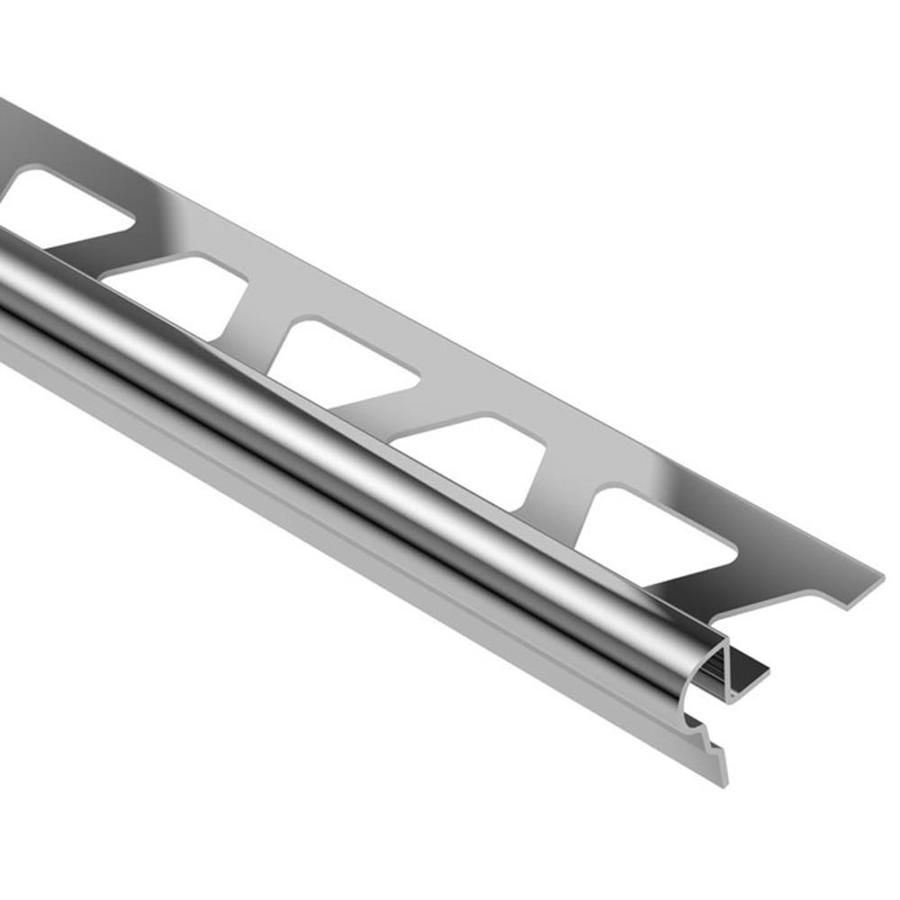 Schluter Systems Trep-FL 0.344-in W x 98.5-in L Steel Tile Edge Trim