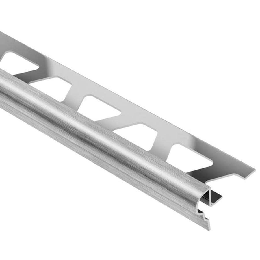 Schluter Systems Trep-FL 0.5-in W x 98.5-in L Steel Tile Edge Trim
