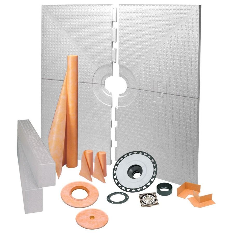 Schluter Systems Kerdi Brushed Nickel Styrene Shower Kit