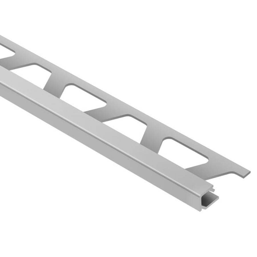Schluter Systems Quadec 0.188-in W x 98.5-in L Aluminum Commercial/Residential Tile Edge Trim