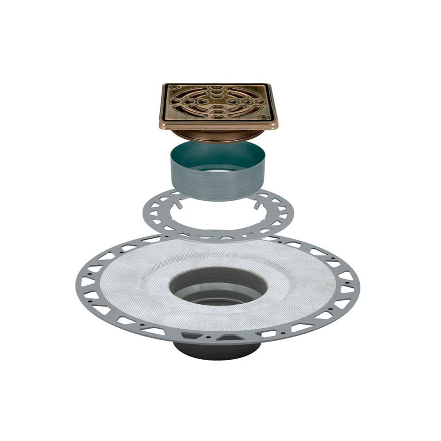 Schluter Systems Kerdi Oil Rubbed Bronze Stainless Steel Shower Drain
