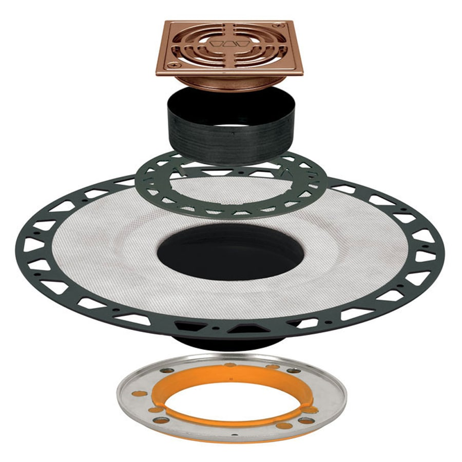 Schluter Systems Kerdi Brushed Copper Bronze Anodized Aluminum Shower Drain