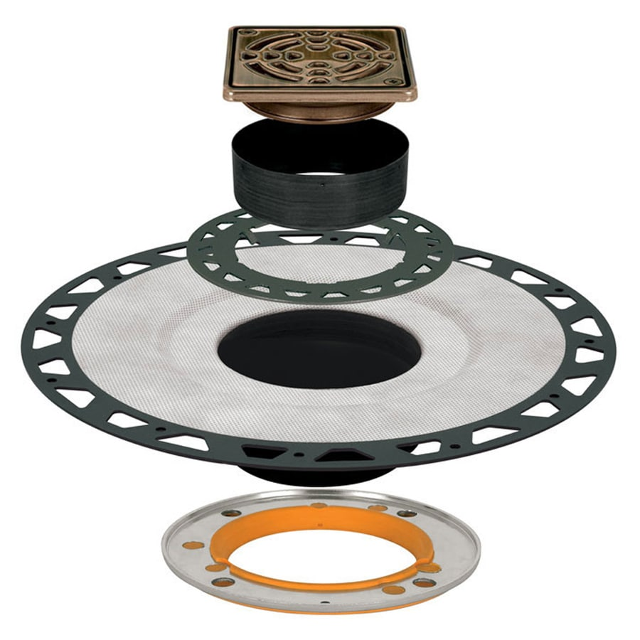 Schluter Systems Kerdi Oil Rubbed Bronze Anodized Aluminum Shower Drain