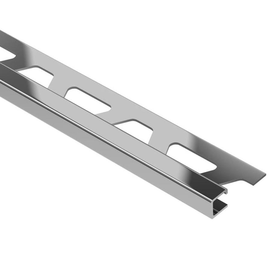 Schluter Systems Quadec 0.438-in W x 98.5-in L Steel Tile Edge Trim