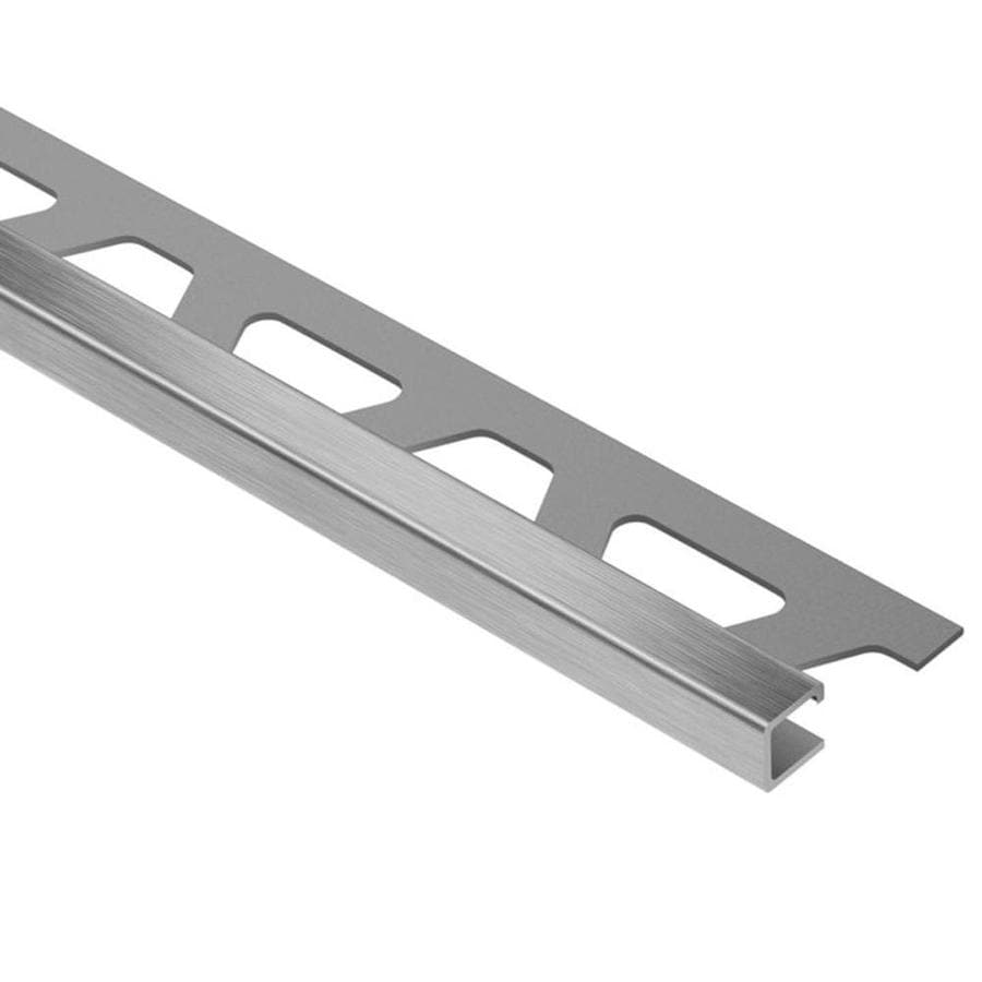Schluter Systems Quadec 0.531-in W x 98.5-in L Steel Tile Edge Trim