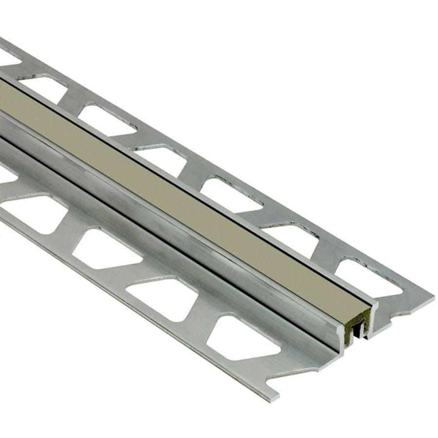 Schluter Systems Dilex-KSN 0.438-in W x 98.5-in L Aluminum Commercial/Residential Tile Edge Trim