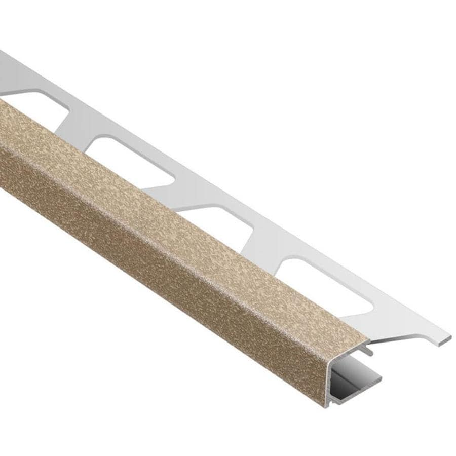 Schluter Systems Quadec 0.375-in W x 98.5-in L Aluminum Commercial/Residential Tile Edge Trim