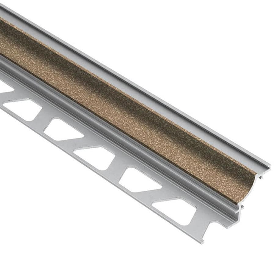 Schluter Systems Dilex-AHK 0.5-in W x 98.5-in L Aluminum Commercial/Residential Tile Edge Trim