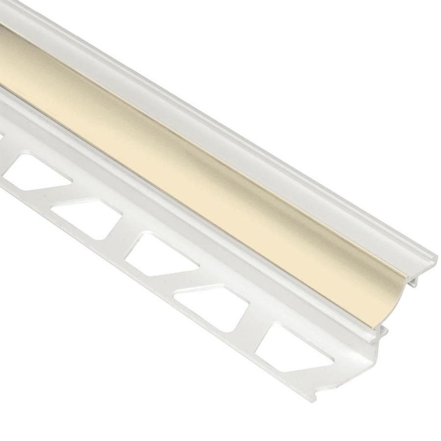 Schluter Systems Dilex-PHK 0.5-in W x 98.5-in L PVC Commercial/Residential Tile Edge Trim