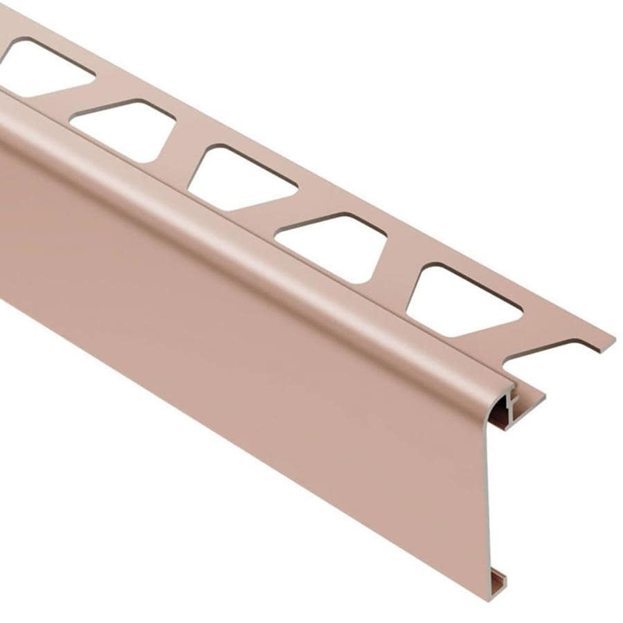 Schluter Systems Rondec-Step 0.375-in W x 98.5-in L Aluminum Commercial/Residential Tile Edge Trim
