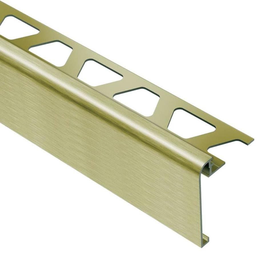 Schluter Systems Rondec-Step 0.375-in W x 98.5-in L Aluminum Tile Edge Trim
