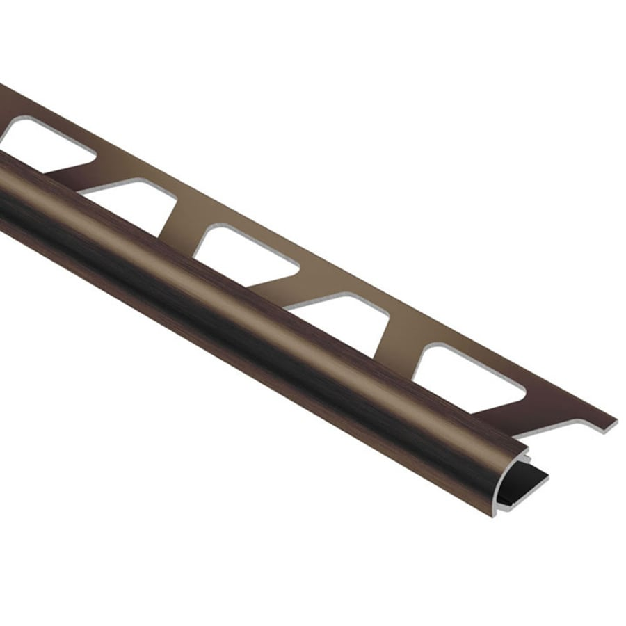 Schluter Systems Rondec 0.375-in W x 98.5-in L Aluminum Tile Edge Trim