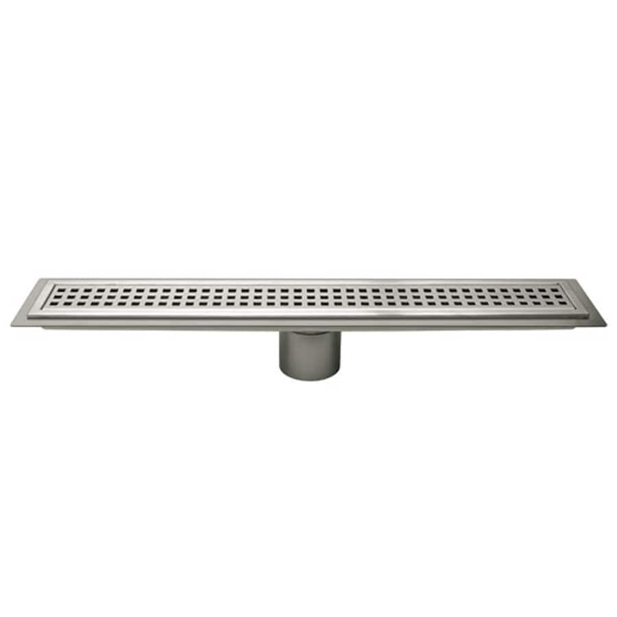Schluter Systems Kerdi Line 23.625-in Stainless Steel Stainless Steel Grate